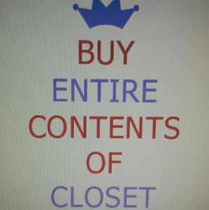Other - My ENTIRE Contents of my Closet is ONE PRICE!