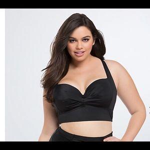 Torrid size 2 black bikini top nwt