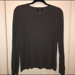 EUC Lauren Ralph Lauren Spun Silk Grey Sweater