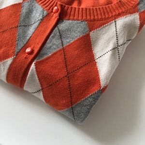 Sweaters - ❤ | argyle print button-up cardigan |