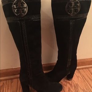 Tory Burch Shoes - EUC Tory burch black suede boots 8