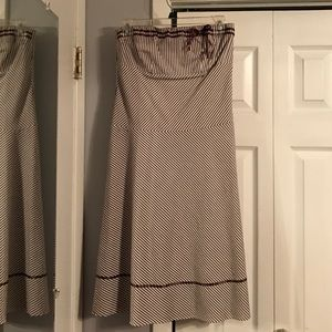 Dresses & Skirts - Brown and white striped dress