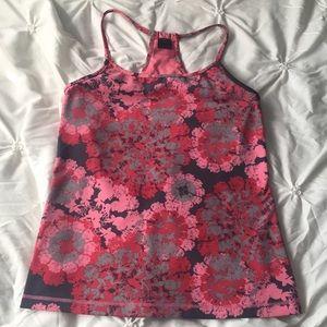 Zella Tops - Zella Gray & Pink Print Workout Tank