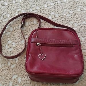 Aurielle Handbags - AURIELLE, RED LEATHER