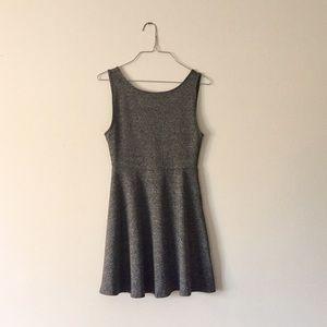 Divided Dresses & Skirts - Heather gray backless skater dress