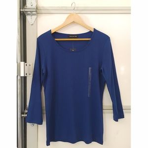 *NEW* Royal blue stretchy knit 3/4 sleeve top
