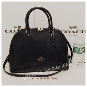 SALE New Coach large Domed leather Satchel