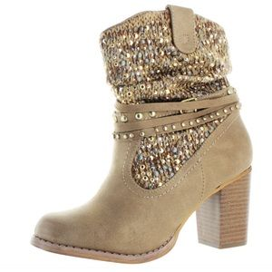 Not Rated Shoes - 💕Western Sparkly Strappy Boots💕