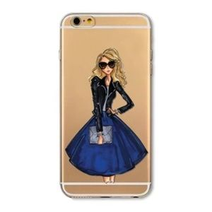 Accessories - FASHION GIRL BLONDE IPHONE 6 6S CLEAR CASE NEW