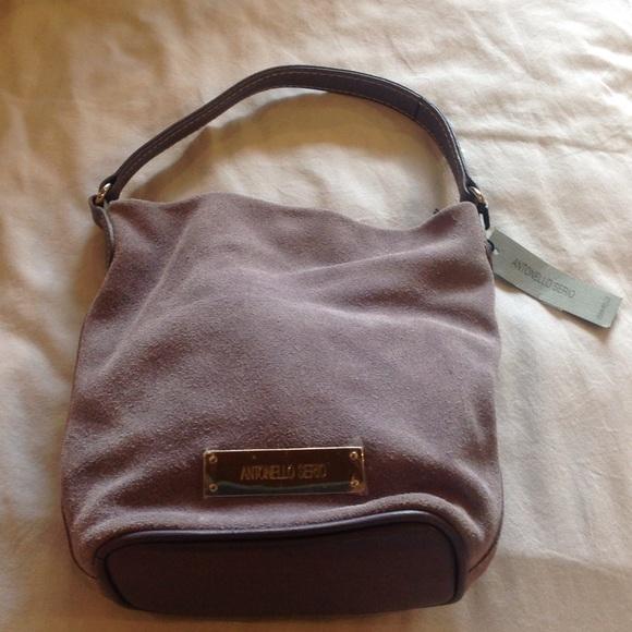 new products ee784 9f330 Small Grey Antonello Serio Handbag NWT