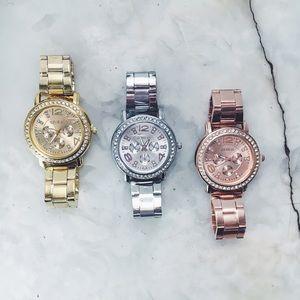 Geneva Platinum Accessories - New! Stainless Steel Quartz Watch