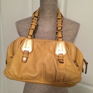 B. Makowsky Yellow Leather Purse