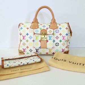 Louis Vuitton Speedy 30 Multicolor w/ Wallet
