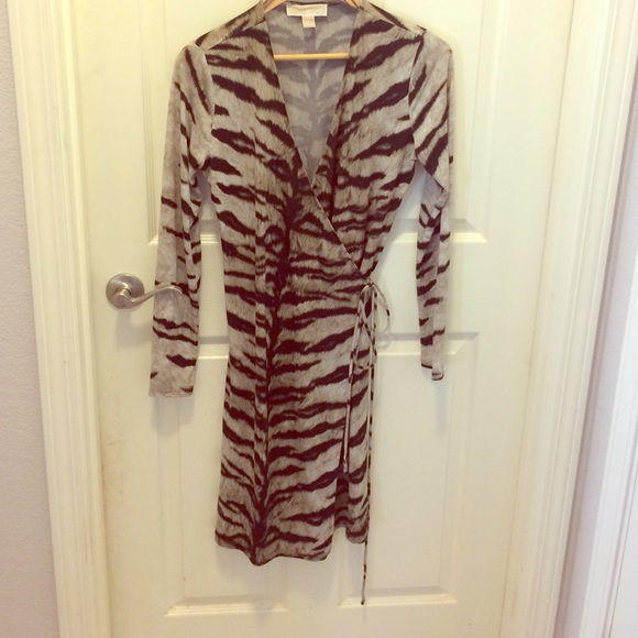 64e71cc5bb KORS Michael Kors Dresses | Michael Kors Tiger Print Wrap Dress ...