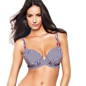 Panache Other - NWOT Panache striped bikini top