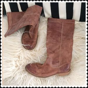 Shoes - Tan unlined Italian made leather boots