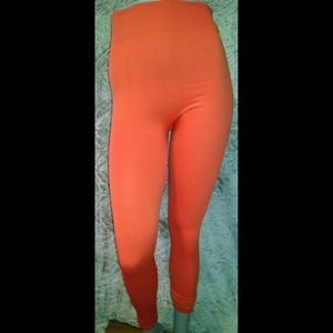 Pants - Orange Winter Leggings