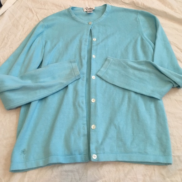 Lilly Pulitzer light blue cotton cardigan