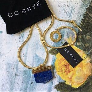 CC Skye Jewelry - CC Skye Gold Earth Lapis Stone Pendant Necklace