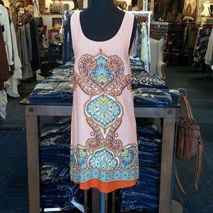 ReneeC Dresses & Skirts - Renee C. Orange Floral Print