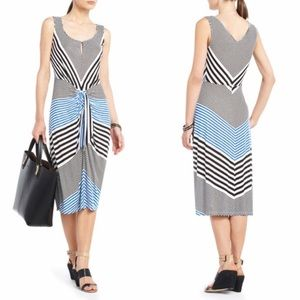 BCBG striped midi dress