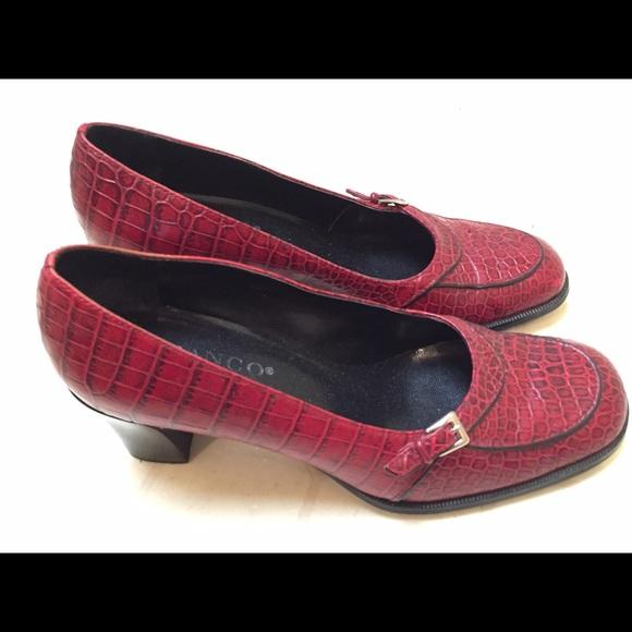 Franco Sarto - Franco Sarto red alligator shoes / heels from ...