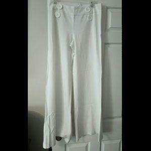 mandee Pants - White Wide Leg Dress Pants