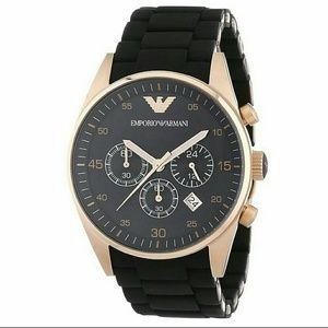 Emporio Armani Other - NWT Emporio Armani Chronograph rose/black watch