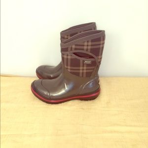 Bogs Shoes - Bogs Mid Plaid Insulated Rain Boot