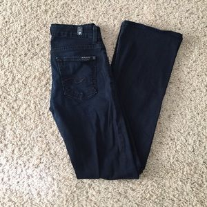 7 For All Mankind kimmie bootcut jeans 25 dark