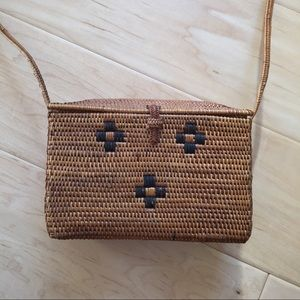 Handwoven Straw Purse from Bali
