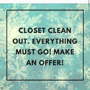Other - Please help me clear out my closet.
