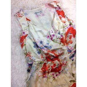 Pendleton Dresses & Skirts - PENDLETON floral silk sleeveless midi dress