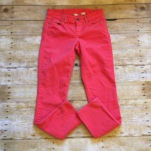 J. Crew Pants - Coral J. Crew corduroy city fit pants, size 25 S