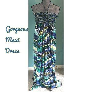 Faded Glory Dresses & Skirts - Stretchy Maxi Dress Halter Strapless XL-2X 16 18