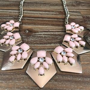 Forever 21 Jewelry - Blush Pink Geometric Deco Statement Necklace