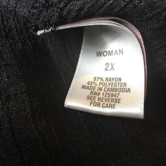 Dress Barn Tops - Dress Barn Woman Black Gauze Tunic Top Sheer 2X