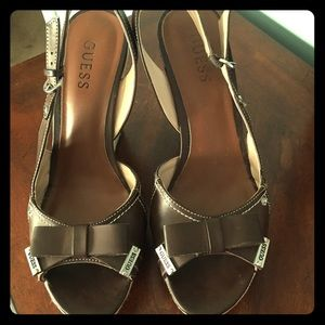 GUESS brown wedges 8.5