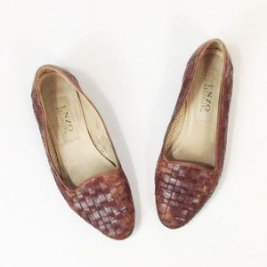 Vintage Shoes - Vintage Woven Leather Loafers Enzo Angiolini