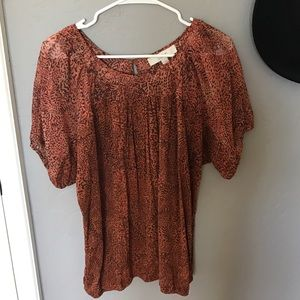 Printed Ann Taylor LOFT blouse top