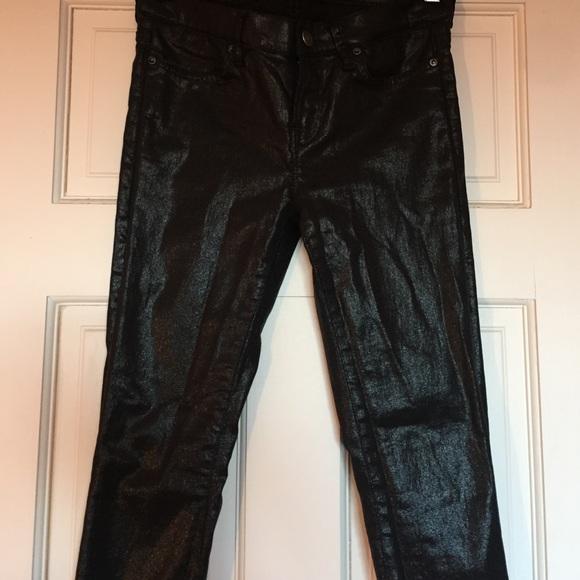 All Saints Denim - All saints stretch metallic denim pants jeans s25