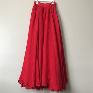 ee60f7d767 Free People Skirts - Free People Red Hearts Delight Maxi Skirt