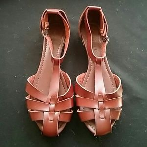American Eagle Outfitters Shoes - BURGUNDY SHOES LIKE NEW