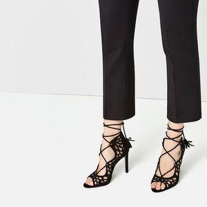 SALE! 🔥 Zara Lace Up Tassel Heels