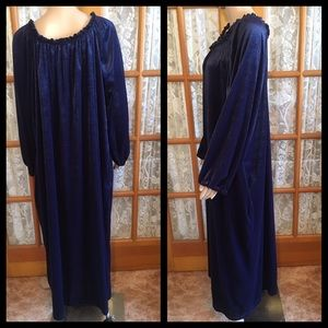 Blair Other - 3X Blair Navy Blue Velvet Full Length Robe