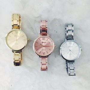 Geneva Platinum Accessories - ✨HP✨ New! Quartz Stainless Steel Watch