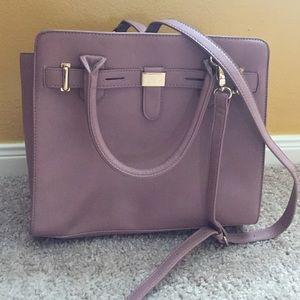 JustFab Eric handbag, Mauve, like new