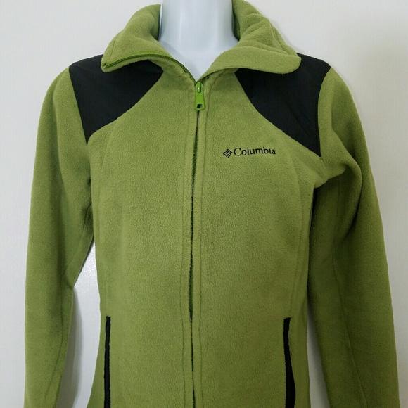 paras hinta ottaa kiinni parhaat lenkkarit Women's Columbia Thick Lime Green Fleece Jacket S