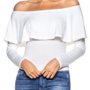 Callie Lives Tops - White Off the Shoulder Salsa Top 💃🏽