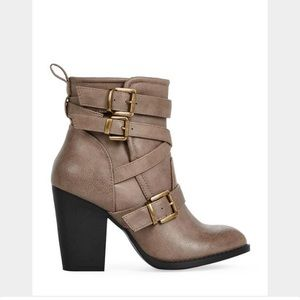 JustFab Shoes - Buckle Ankle Booties
